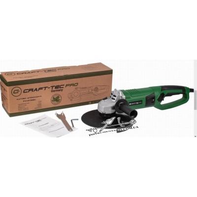 Болгарка craft-tec pxag 228 а 230-2600 плавный пуск, поворотная ручка.