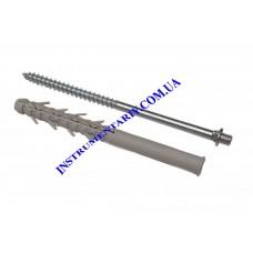 Винт-шуруп крепежный с дюбелем100 мм для монтажа  водосточной системы RAINWAY