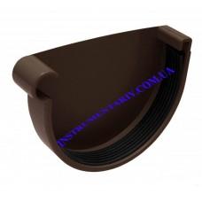 Заглушка желоба левая водосточной системы RAINWAY 130 мм (шт)