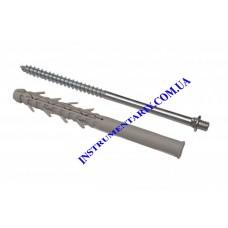 Винт-шуруп крепежный с дюбелем160 мм для монтажа водосточной системы RAINWAY