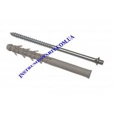 Винт-шуруп крепежный с дюбелем 220 мм для монтажа водосточной системы RAINWAY