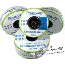 Капельная лента Presto-PS - 3D Tube 0,18 (2,7л/ч) ( через 30см ), бухта 1000м, эмиттерная