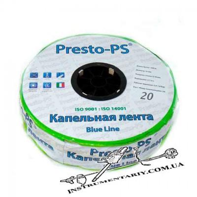 Капельная лента щелевая Presto-PS Blue Line, отверстия через 20 см, расход воды 2,4 л/ч, длина 500 м (BL-20-500)