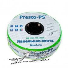 Капельная лента - Presto-PS  Blue Line, щелевая отверстия через 10 см, расход воды 2,2 л/ч, длина 500 м (BL-10-500)