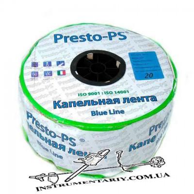 Капельная лента щелевая Presto-PS Blue Line, отверстия через 20 см, расход воды 2,4 л/ч, длина 500 м (BL-20-1000)