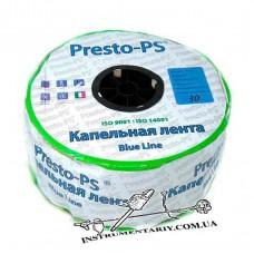 Капельная лента  щелевая Presto-PS Blue Line отверстия через 30 см, расход воды 2,7 л/ч, длина 1000 м (BL-30-1000)