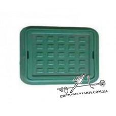 Люк смотровой квадратный зеленый 300х300