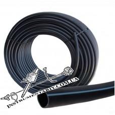 Труба полиэтиленовая чёрная с синей полосой 20 мм 6 атм.