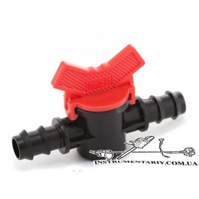 Кран шаровый проходной для трубки 16 мм Presto-PS (MV-0116)