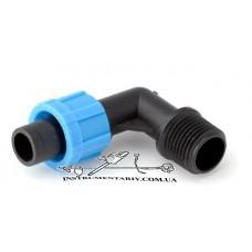 Стартер угловой для капельной ленты с резьбой 1/2 дюйма Presto-PS (ME-0117-12)