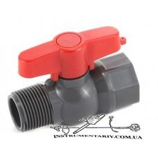 Кран шаровый 19 мм с наружной и внутренней резьбой 3/4 дюйма  Presto-PS  (PFV-0125)