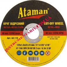 Диск отрезной по металлу  125x1 мм. Ataman™