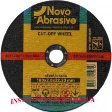 Диск отрезной по металлу 180x2,0 мм. Novo Abrosive