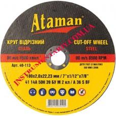 Диск отрезной по металлу 180x2,0 мм. Ataman™