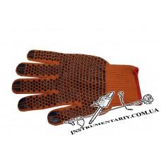Перчатки хб оранжевые люкс